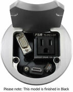 Fsr T3-pc1dhwcp-blk - Dig-a/v-data 3.5 Cable Pull Round Table Box Black Cover