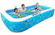 Inflatable Swimming Pool Thickened Family Size Outdoor Backyard Fun Patio Deck
