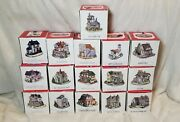 Lot Of 16 Liberty Falls Miniature Village Buildings Americana Collection In Box