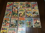 Charlton Silver Age War Comics Bundle Of 19 In Average - Vg Condition