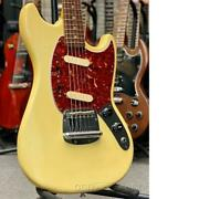 Fender 1977 Mustang -olympic White / Rosewood- Electric Guitar