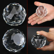 50/200mm Cut Crystal Sphere Prisms Glass Ball Faceted Gazing Suncatcher Crafts