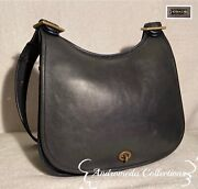 Vintage Coach Early Stewardess Bag W/metal Tag, Navy, Made In New York City