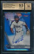 Bgs 9.5/10 Wander Franco Auto 2019 Bowmanand039s Best Blue Refractor /150 Rc Gem Mint