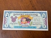 Disney Dollar Mickeyandrsquos 65th 1993 Low Serial Number D00780771a Mint