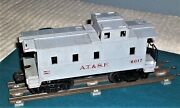Postwar Lionel A.t.and S.f. Caboose 6017 In Light Gray-type 3a-very Collectible