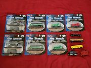 Maisto On Track. Train Engines Cabooses And Hopper. New. Diecast Metal. Lot Of 7