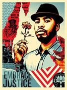 Shepard Fairey Embrace Justice Rare Obey Giant Poster Prints