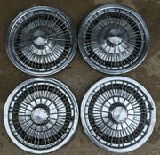 1971-1976 Chevy Impala Caprice Monte Carlo 15 Wire Hubcaps Wheel Cover Set 4