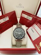 Mint Menandrsquos Omega Speedmaster Chronograph Watch Ref. 32105000 Box And Papers