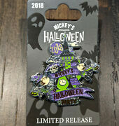 Disney Dlr Mickey's Halloween Party 2018 Logo Pin Limited Release Lr Castle
