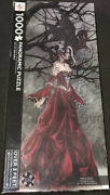 Queen Of The Shadows Nene Thomas 1000 Piece Panoramic Puzzle 2014 Art Gothic