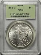 1886-o 1 Pcgs Ms62 Ogh Uncirculated Unc New Orleans Morgan Silver Dollar Coin