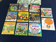 Lot Of 11 Rare And Collectible Disney Read Along Books Brer Tar Pete Detective