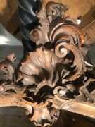 Remnents Hand Carved Wood French 1900s Pedament Crown Molding