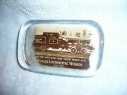 Great Early Heisler Locomotive Works Erie Pa Glass Advertising Paperweight