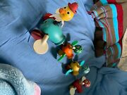 Vintage Fisher Price Wooden Pull Toy Momma Duck And 3 Babies Made In Usa 1950s