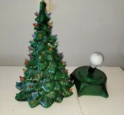 Vintage Ceramic 2 Pc. Christmas Tree 19 By Holland Mold
