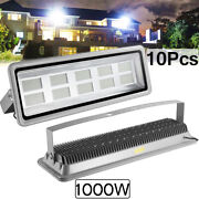 10x 1000w Led Flood Light Cool White Camping Outdoor Lighting Security Wall Lamp