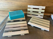 60 Natural Poplar Wood Soap Dishes - Proudly Handmade In The Usa