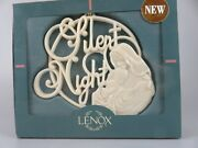 Lenox Song Silent Night Mary And Jesus Christmas Tree Ornament New