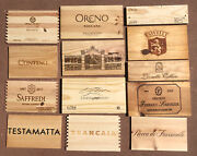 Wood Wine Box 13 Panel Lot Crate Lids And Ends Napa French. Cellar Wall