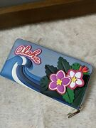 Nwt 210 Kate Spade Scenic Route Hawaii Aloha Zip Floral Continental Wallet
