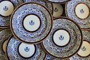 Rare Set Of 12 Antique Royal Worcester Royal Lily Armorial Plates Coat Of Arms