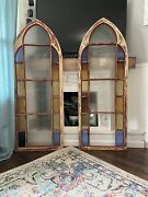 Shipped To Boone, Nc. See Notes. Stained Glass Arch Window Church Panel