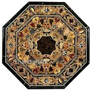 30 X 30 Inches Octagon Marble Center Table Top With Heritage Art Coffee Table