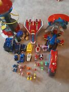 Huge Mega Paw Patrol Mixed Lot Vehicles And Figures Tower Toy Set Bus Plane Cars