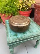 Antique Indian Handcrafted Brass Indian Kitchenware Chappati Bread Storage Box