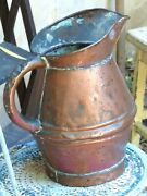 19th Century Gorgeous Antique French Copper Watering Can / Rustic Garden