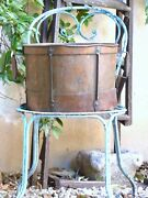 Late 18th Century 13 Large Antique French Copper Rustic Pot Garden