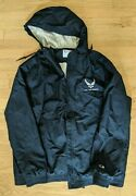 Large Champion Us Airforce Jacket Authentic Athletic Wear Rn49314 - Navy Blue