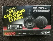 Vintage Sanyo Gt4300 Car Stereo Amfm Cassette Player Speakers Made In Japan Rare
