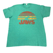 Vtg Pacific Universal Studios Green Jaws The Movie Short Sleeve Tee Shirt Large