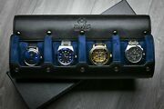 Watch Travel Case - Watch Roll - Watch Case For Men -cow And Saffiano Real Leather