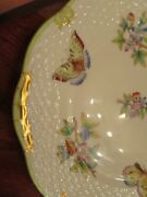 12 Herend Queen Victoria Green 7.5 Inch Salad Or Dessert Plates Great Cond.