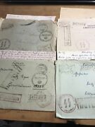 4 Rare Ww2 German Stamp Envelope Letter From Soldier Ww11