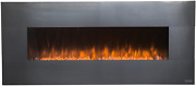 50'' Electric Fireplace Insert Recessed Wall-mounted Room Heater Decor Stainless
