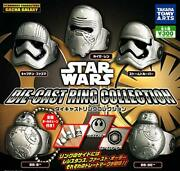 Star Wars Diecast Ring Collection All 5 Types Set Gacha Gasha Complete
