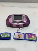 Leapfrog Leapster Learning Game System Model 20209 Pink Color 3 Games Complete