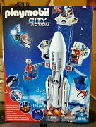 Playmobil 6195 Space Rocket With Launch Mission Geo. Nasa. New Old Stock 2014.