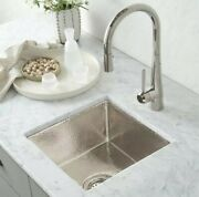 Native Trails Cps534 Cantina 15 Undermount Sink, Hammered Polished Nickel