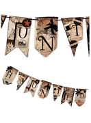 Bethany Lowe Halloween Haunted Into The Woods Pennant Garland—retired