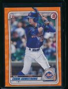Pete Crow Armstrong 1st 2020 Bowman Draft Paper Orange Parallel /25 Rookie Rc