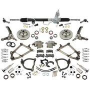 Mustang Ii Ifs Front Suspension, Tube Arms, 375 Coilovers, Manual Rack,4-3/4