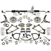 Mustang Ii Ifs Front Suspension, Tube Arms, 700 Coilovers, Manual Rack,4-3/4