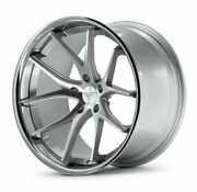 19 Ferrada Fr2 Silver Concave Wheels Rims Fits Ford Mustang 19x8.5 And 19x10.5